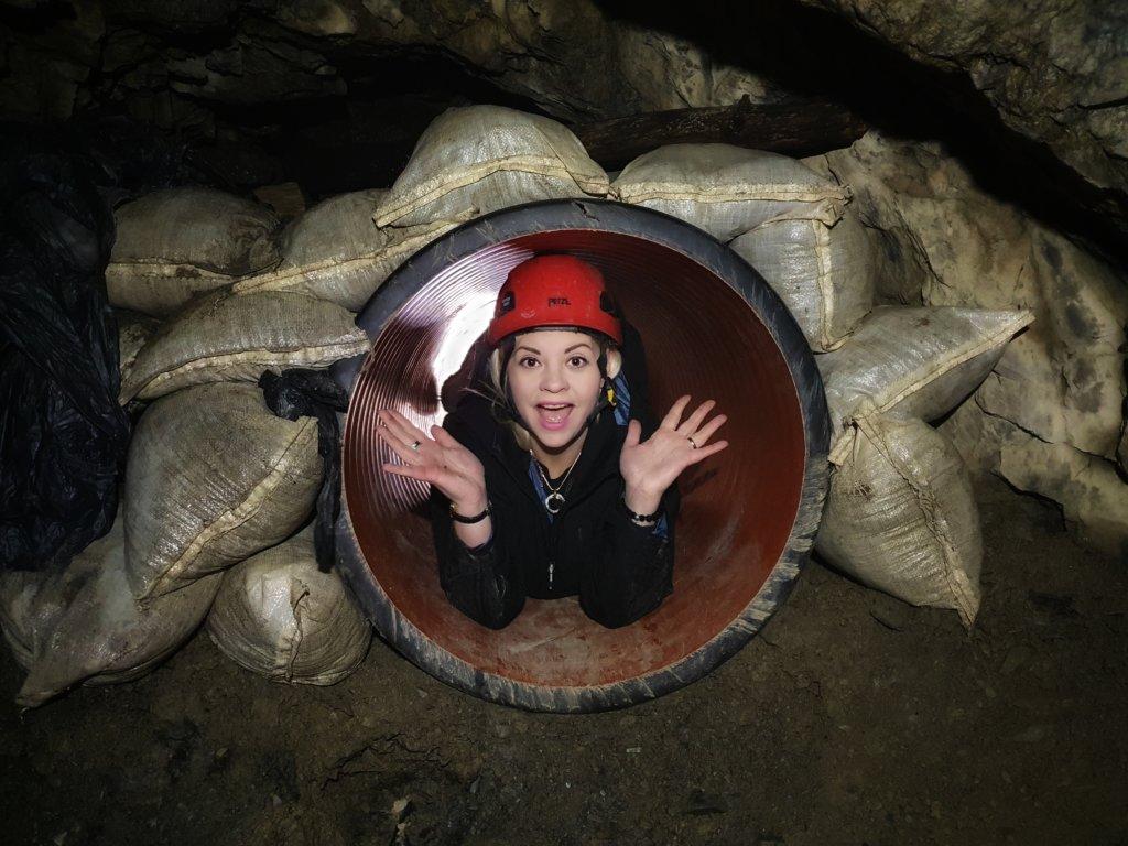 Underground mine tour Wales