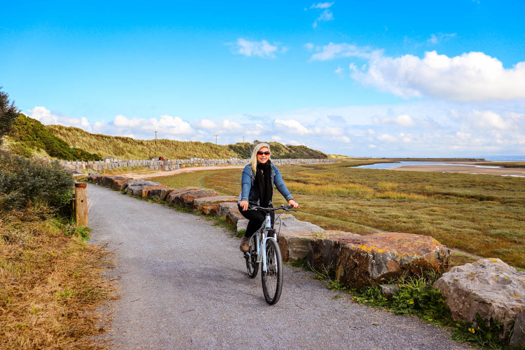 Wales coast path cycling