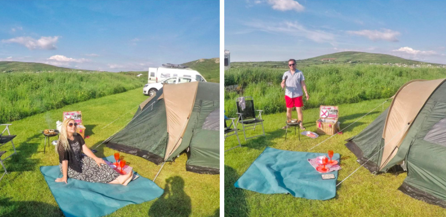 Camping in the Gower Wales