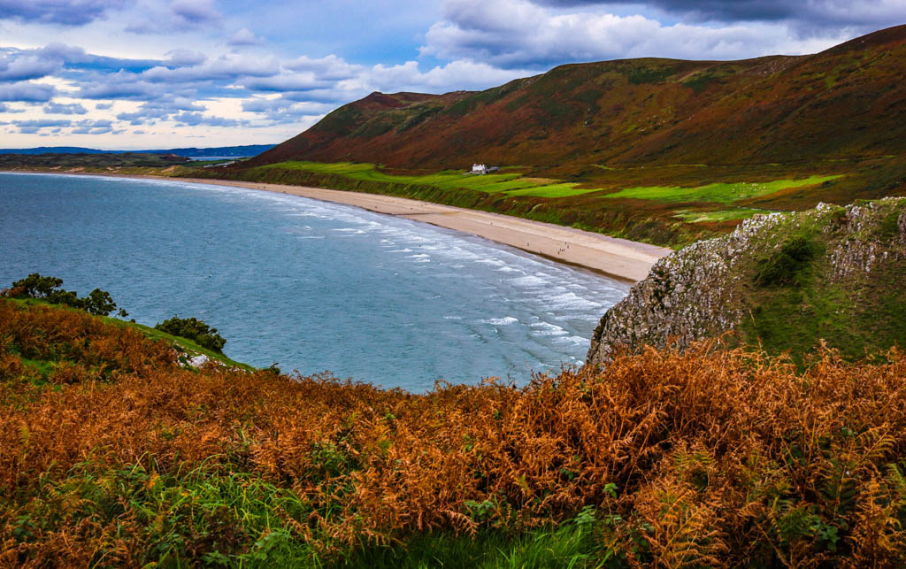 Beautiful beaches in the Gower Wales