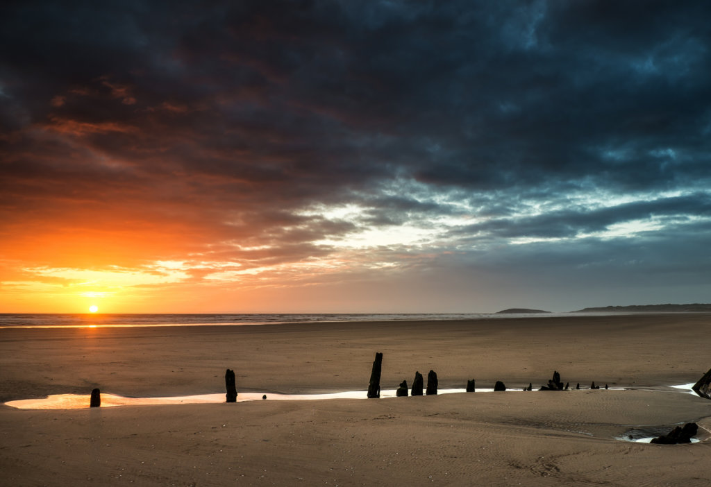 best sunset places in Wales