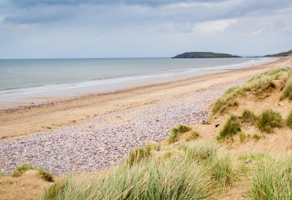 Beach camping the Gower Wales