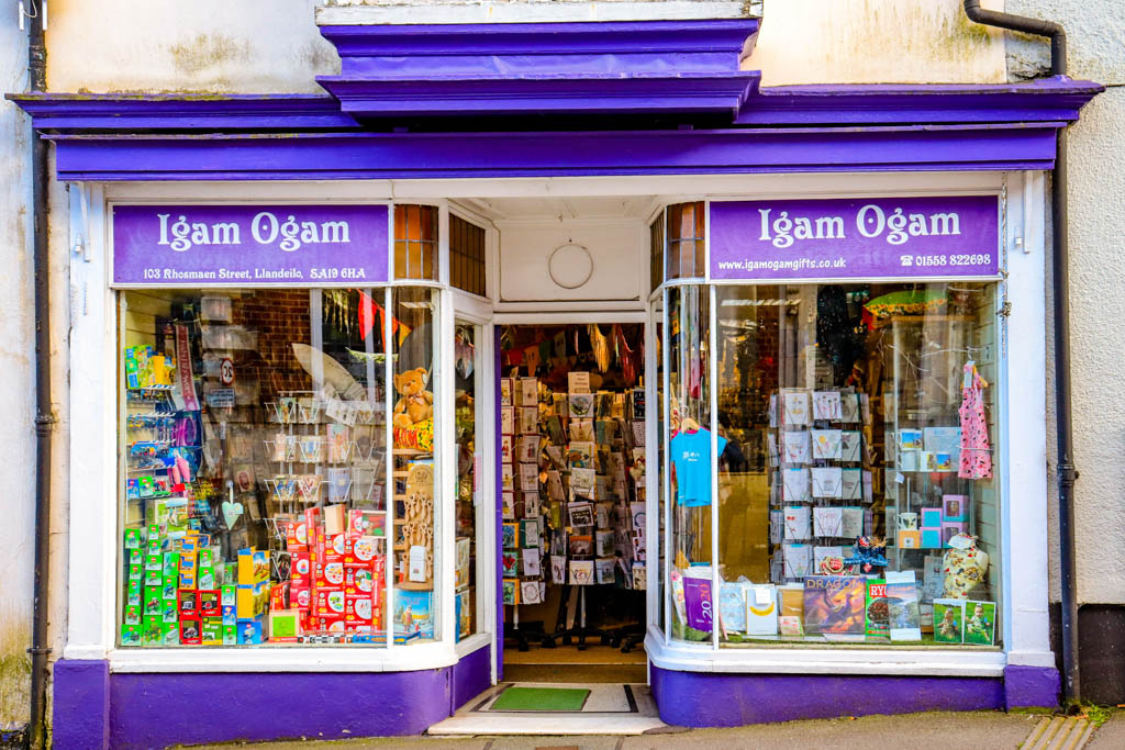 Boutique shops in Llandeilo Wales