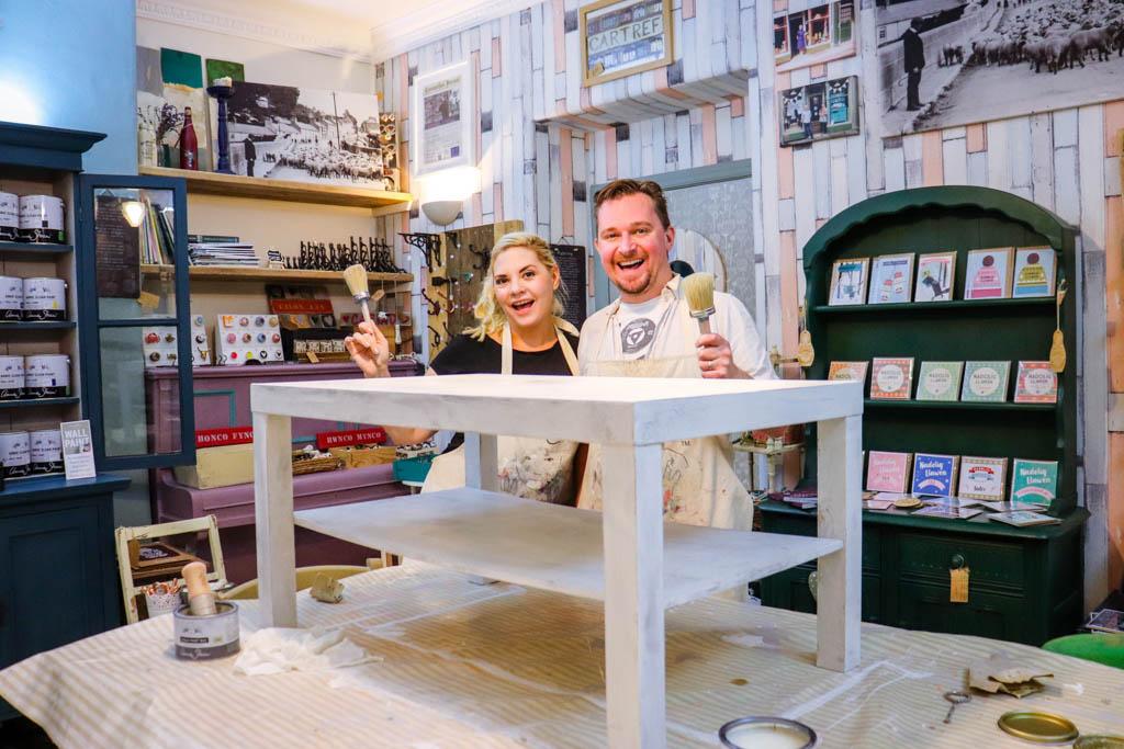 Furniture painting workshop in Llandeilo Wales