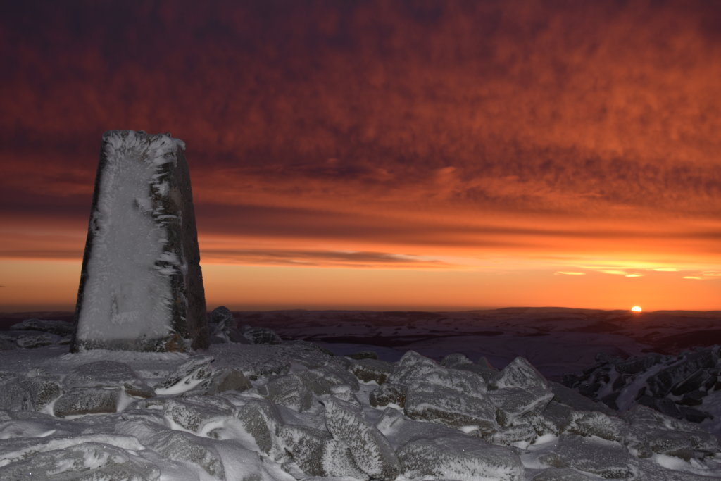 Climb Pumlumon Mountain at sunrise. Cambrian Mountains Wales