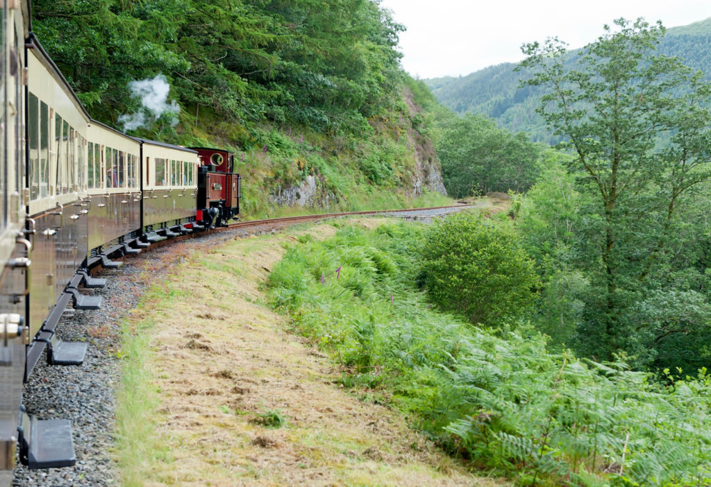 Ride the Vale of Rheidol steam train Devils Bridge Wales