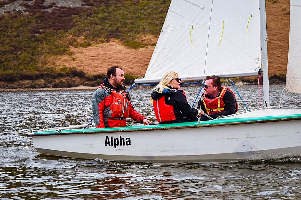 Sailing on Clywedog Lake Wales