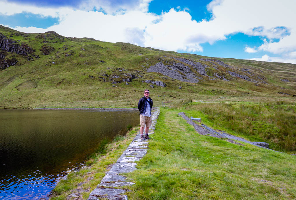 Llyn Llygad Rheidol, source of the Afon Rheidol at Pumlumon