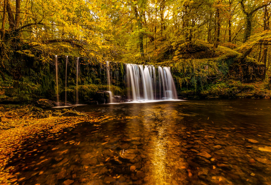 Walk the four falls trail, in the heart of Waterfall Country Brecon