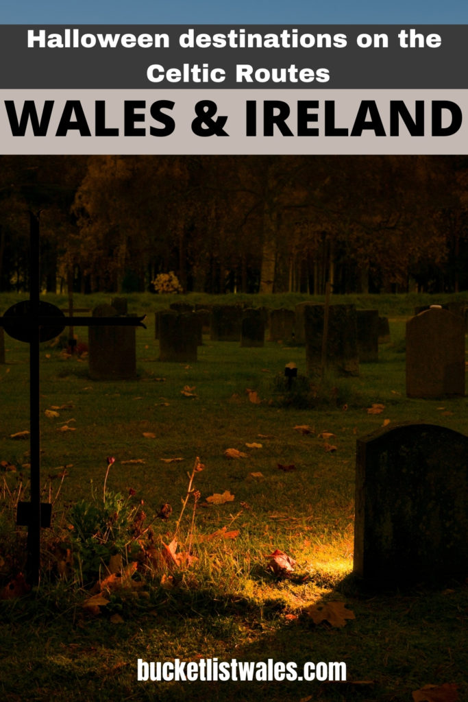 These Celtic Routes Halloween destinations have a broad history of legends, myths and ghost stories for visitors seeking for some spooky locations. These destinations can be found counties of Pembrokeshire, Ceredigion and Carmarthenshire in Wales, and Wicklow, Waterford and Wexford in Ireland. Halloween Destinations | Ireland travel | Haunted locations | Halloween locations | Ireland Halloween | Wales travel